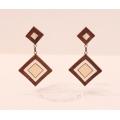 Wooden earring N1